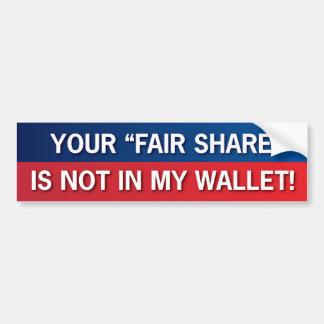 Pegatina Para Coche ¡Su parte justa no está en mi cartera! ¡GOP!