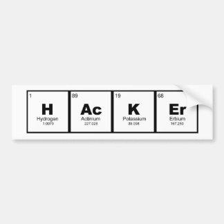 Pegatina Para Coche tabla periódica de la química del TRONCO del
