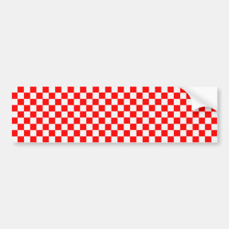 Pegatina Para Coche Tablero de damas clásico rojo y blanco