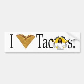 Pegatina Para Coche Tacos I (del corazón)