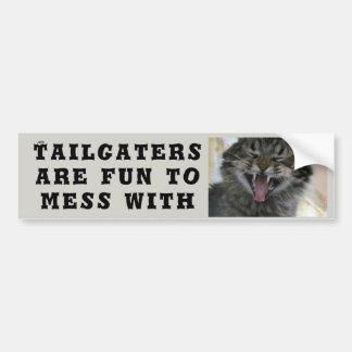 Pegatina Para Coche Tailgaters es diversión a ensuciar con el gato