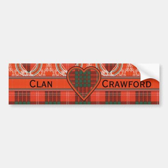 Pegatina Para Coche Tartán del escocés de la tela escocesa del clan de