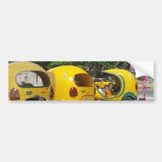 Pegatina Para Coche TAXI amarillo impreso de la diversión (Cuba)
