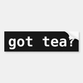 Pegatina Para Coche ¿té conseguido? Fiesta del té divertida política