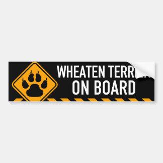 Pegatina Para Coche Terrier de trigo a bordo