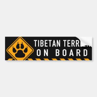 Pegatina Para Coche Terrier tibetano a bordo