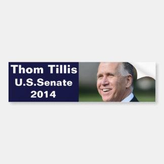 Pegatina Para Coche Thom Tillis para el senado de los E.E.U.U.