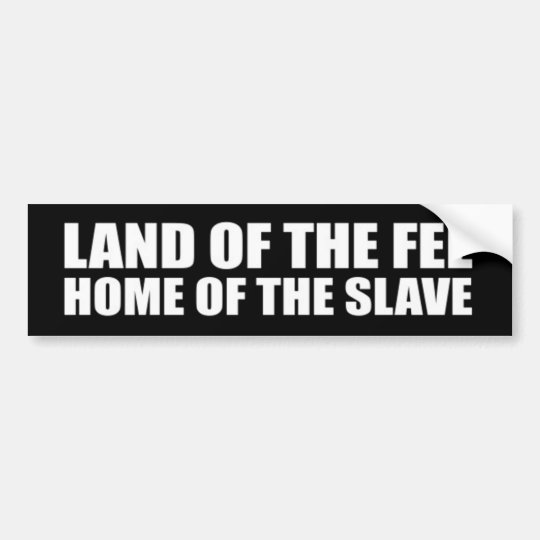 Pegatina Para Coche Tierra de la tarifa, hogar del esclavo