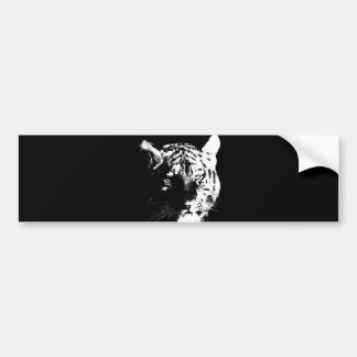 Pegatina Para Coche Tigre negro y blanco del arte pop