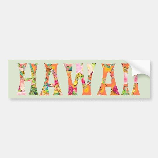 Pegatina Para Coche Tipografía de PixDezines Hawaii Tiki