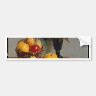 Pegatina Para Coche Todavía vida con las flores y la fruta