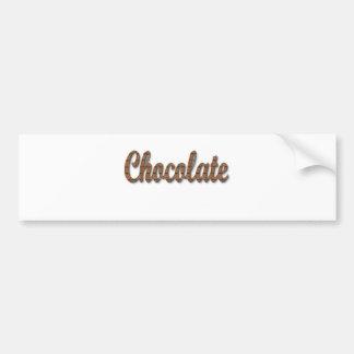 Pegatina Para Coche Todos los favoritos del chocolate