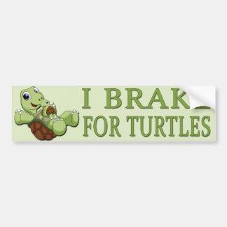 Pegatina Para Coche Tortugas lindas - freno de I para las tortugas