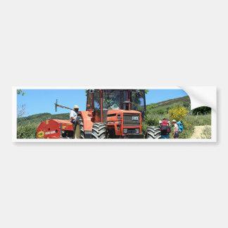 Pegatina Para Coche Tractor rojo en el EL Camino, España