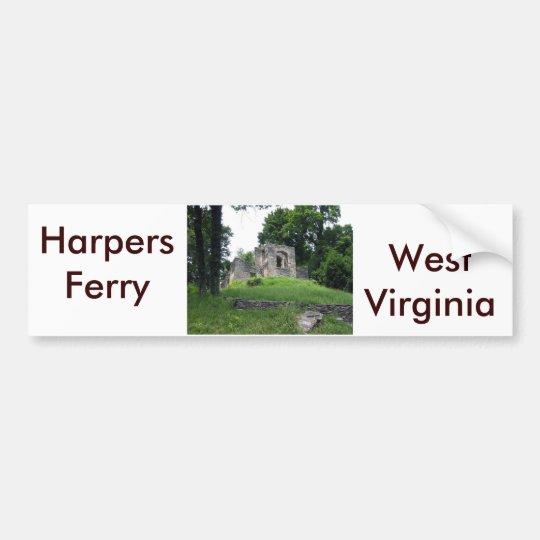 Pegatina Para Coche Transbordador de los Harpers, Virginia Occidental