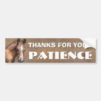 Pegatina Para Coche Transporte del caballo: Gracias por su paciencia