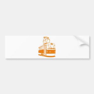Pegatina Para Coche Transporte del tranvía eléctrico