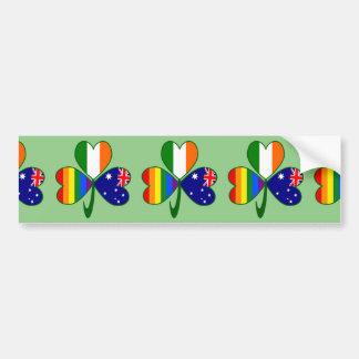 Pegatina Para Coche Trébol irlandés australiano del orgullo gay