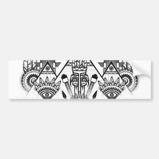 Pegatina Para Coche Tribal indio nativo antiguo abstracto