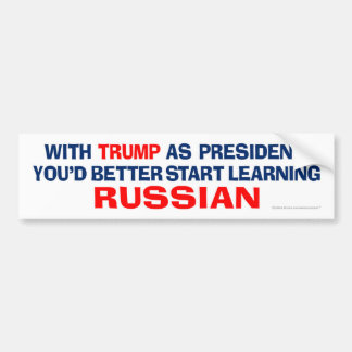 Pegatina Para Coche Triunfo como presidente - aprenda el ruso