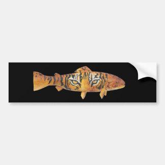 Pegatina Para Coche Trucha Bumpersticker del tigre