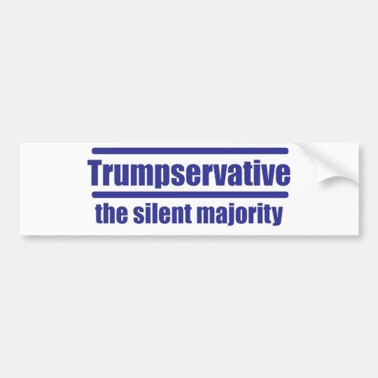Pegatina Para Coche Trumpservative la mayoría silenciosa,