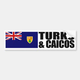 Pegatina Para Coche Turcos y bandera de las islas de Caicos