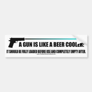 Pegatina Para Coche Un arma es como un refrigerador de la cerveza