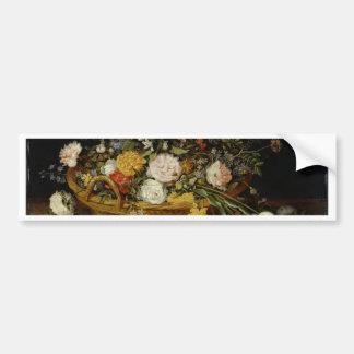 Pegatina Para Coche Una cesta de flores - Jan Brueghel el más joven