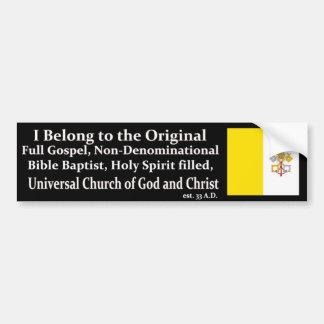 Pegatina Para Coche Una iglesia verdadera