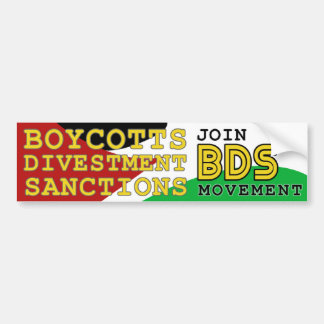 Pegatina Para Coche Únase a la ayuda Palestina del movimiento de BDS