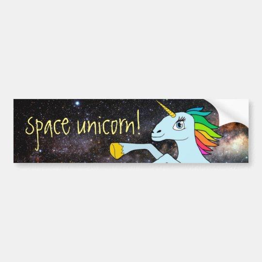Pegatina Para Coche ¡Unicornio del espacio!