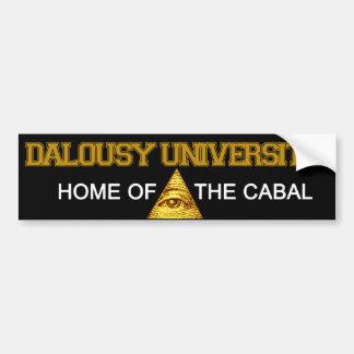 Pegatina Para Coche Universidad de Dalousy - casera de la cábala