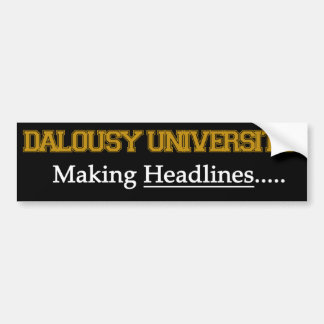 Pegatina Para Coche Universidad de Dalousy - fabricación de títulos
