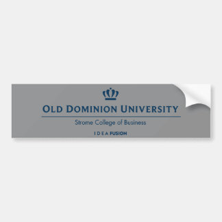 Pegatina Para Coche Universidad del negocio - azul de ODU Strome