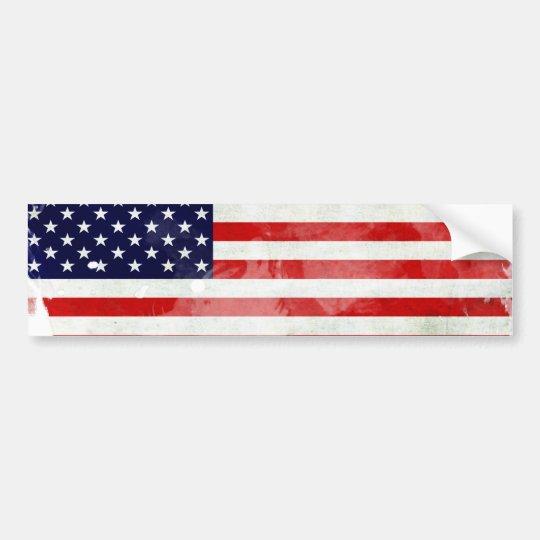 PEGATINA PARA COCHE USA OLD FLAG