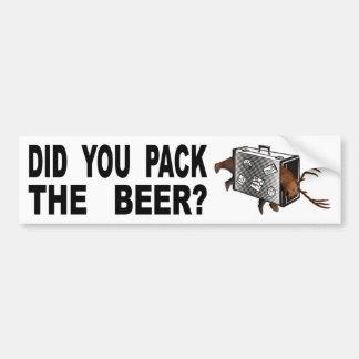 Pegatina Para Coche ¿Usted embaló la cerveza?