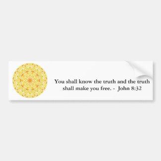 Pegatina Para Coche Usted sabrá que la verdad y la verdad ......