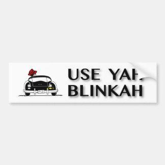 Pegatina Para Coche Utilice Yah Blinkah