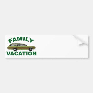 Pegatina Para Coche vacaciones de familia 80s