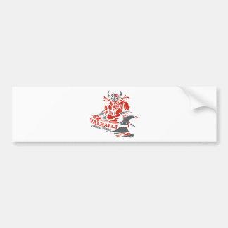Pegatina Para Coche Valhalla - orgullo de Viking - diseño del hacha de