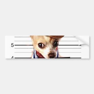 Pegatina Para Coche vaquero de la chihuahua - perro del sheriff