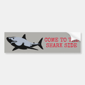 Pegatina Para Coche Venido al lado del tiburón