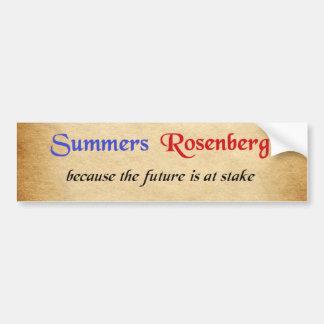 Pegatina Para Coche Veranos/pegatina de la campaña de Rosenberg