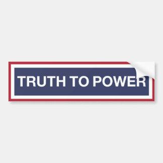 Pegatina Para Coche Verdad al poder