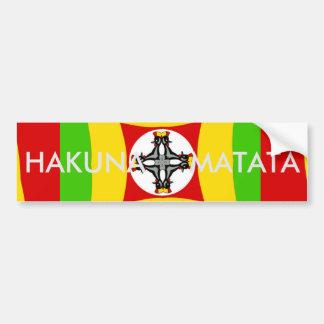 Pegatina Para Coche Verde de oro rojo del color de Hakuna Matata Rasta