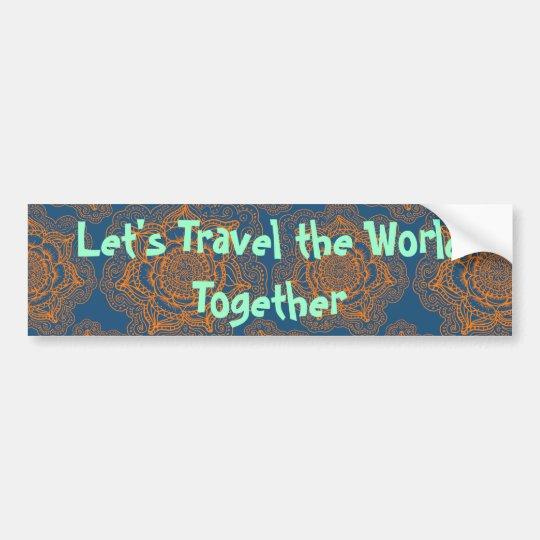 Pegatina Para Coche Viajemos el mundo junto