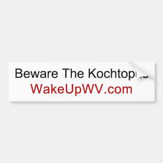 Pegatina Para Coche Virginia Occidental - guárdese del Kochtopus