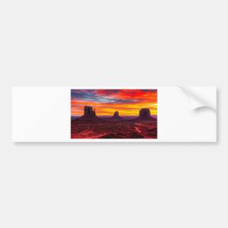 Pegatina Para Coche Vista escénica de la puesta del sol sobre el mar