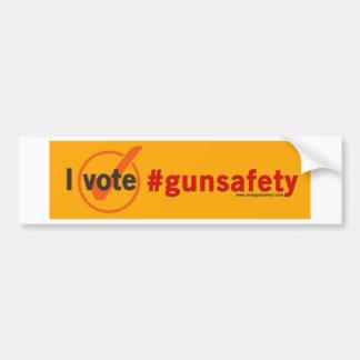Pegatina Para Coche Voto el bumpersticker de la seguridad del arma